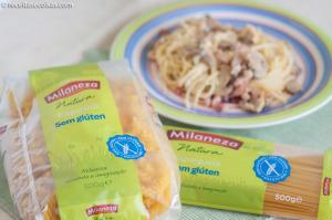 Receita com massa Milaneza sem gluten